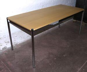 Usm Haller Tisch 175cm X 75cm Distanzringe Buche Schreibtisch Büro