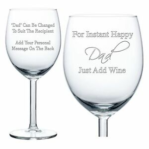 Personalised Wine Glass Engraved Birthday Gifts Daddy ...