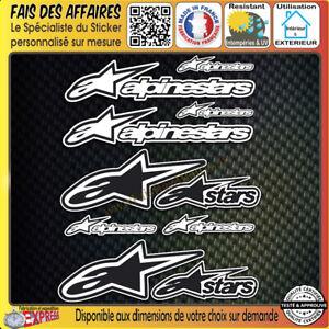 lot-10-Stickers-autocollant-Alpinestars-adhesif-tuning-planche-sponsor