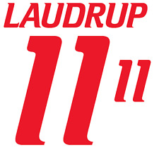Denmark Laudrup Nameset 2000 Shirt Soccer Number Letter Heat Print Football Away
