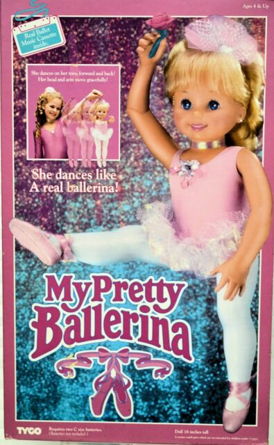 My Pretty Ballerina Doll VIntage Tyco 1990 MIB with box and accessories