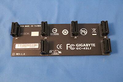 Original Gigabyte Nvidia SLI Bridge GC-SLI2PL Black Board, Black Port