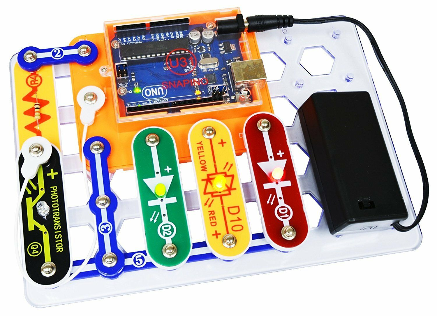 2 Pack Snapino Snap Circuits Open Source Coding Arduino Project Kit Elenco Sc750r Student Training Program Is Basically An Norton Secured Powered By Verisign