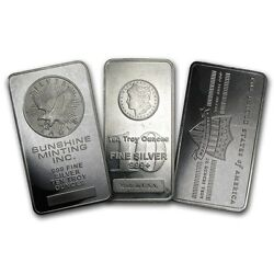 10oz. Secondary Market Silver Bar