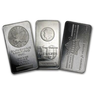 10oz. Secondary Market Silver Bar