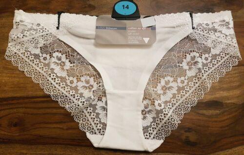 M/&S CollectionNo VPL Low Rise Brazilian Knickers Size 14