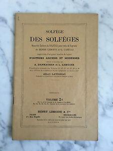 Solfège Des Solfège Albert Lavignac Henry Lemoine & Cie Volumen 1C (Noten)