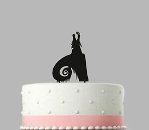 Details About Birthday Acrylic Cake Decoration Nightmare Before Christmas 120mm Topper 437