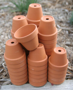 Bulk Lot 50 2 Inch Small Clay Flower Pots Garden Craft