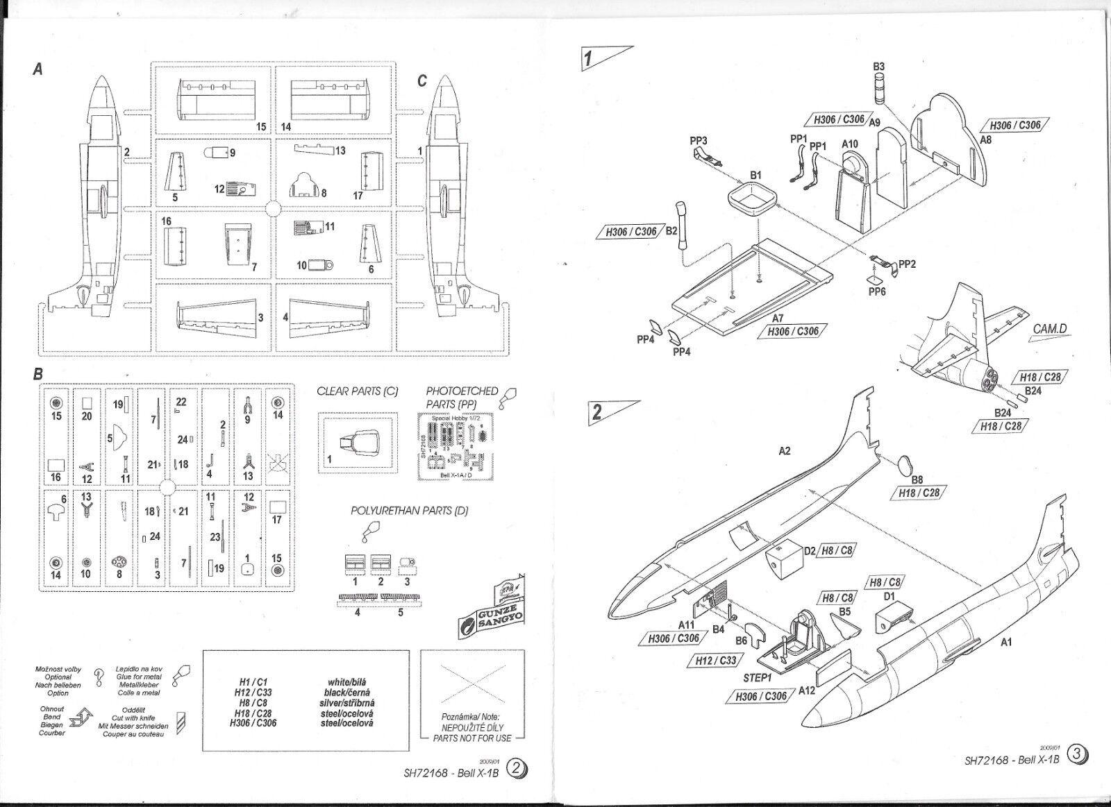 Special Hobby X-1B' Naca Modificación Program' 1 72 72 72 168 St 26bbe3