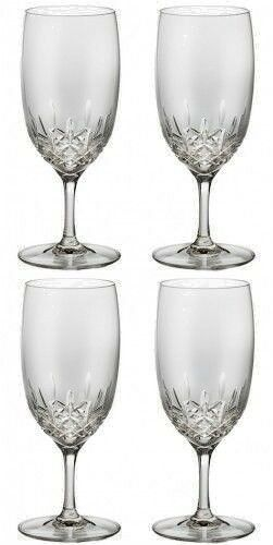 WATERFORD LISMORE ESSENCE WATER Glass PAIR Two Pair 4 Glasses #149953