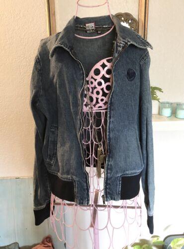 vintage roxy jean Bomber jacket Sz Small