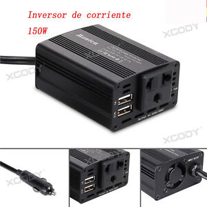 150W-12V-220V-Transformador-Corriente-Coche-Convertidor-Inversor-2-USB-Camping