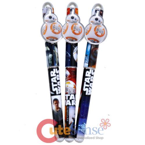 Star Wars Pens Ball Point Pen Set 3pc BB-8 Metal Clip Black Ink Stationery