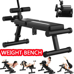 Folding Adjustable Abs Sit Up Crunch Bench Decline Fitness Home Gym Workout New