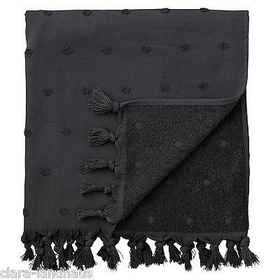 Lene Bjerre Handtuch schwarz black Logo Shabby Bad Vintage 100x50 cm