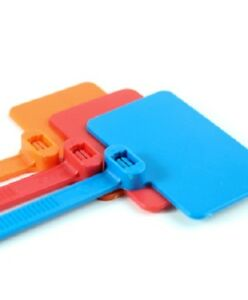 0ce66627d185 100 Orange Nylon Self-Locking Label Cable Ties Network Marker Wire ...