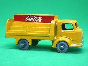 Matchbox-Lesney-No-37a-Karrier-Bantam-Coca-Cola-034-034-CAMIoN-naranja-amarillo