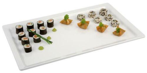 Tablett PURE Weiß oder Schwarz stapelbar GN Gastronorm /& EN Bäckermaß Gastlando