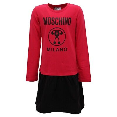 Brioso 4527z Abito Bimba Girl Moschino Kid/teen Red/black Cotton Dress