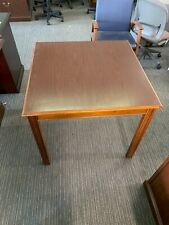 34x34x29 12h Square Conference Cafeteria Card Table In Walnut Color Laminate