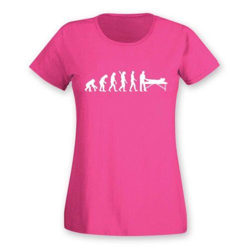 T-Shirt Evolution Chiropraktiker Chiro Physiotherapeutin15 Farben Damen XS 2XL