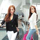 Women's One Button Slim Casual Business Blazer Suit Jacket Coat Outwear