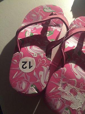 Neu Guess Keilabsatz zehentrenner UK Größe 11.5 EU 29 weich bequem rosa Mädchen