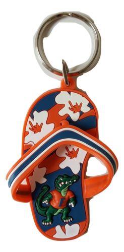 Florida Gators Keychain Flip Flop Style PVC Rubber Keychain Logo Keyring