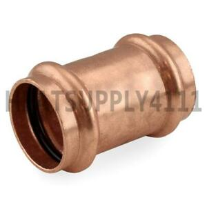 """Apollo Press Copper ProPress fittings 1-1//4/"""" COUPLING WITH STOP LOT OF 8"""
