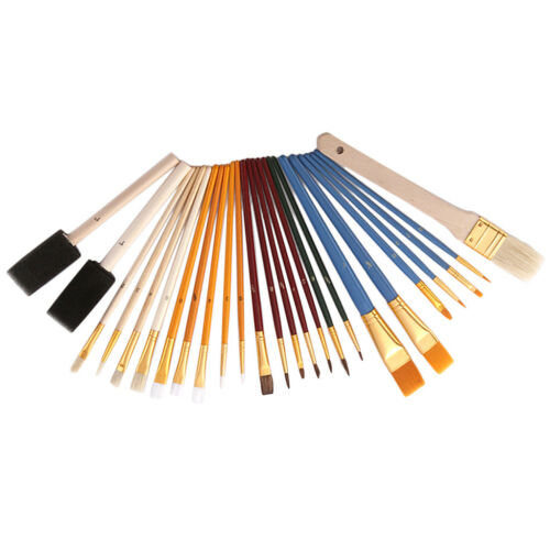 25x Artists Paint Brushes Set Foam Dabbers Brush for Acrylic Oil Watercolour