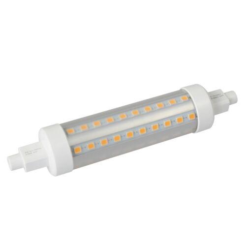 Slim R7s Led Leuchtmittel 118mm DIMMBAR 806lm 230V//8W EEK A //Halogenstab Ersatz