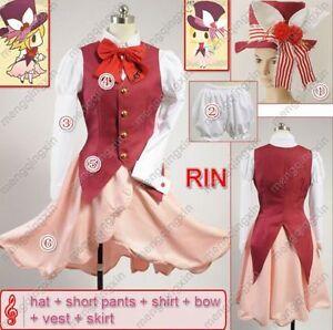 VOCALOID 2 Kagamine Rin Maid Cosplay Costume Custom Any Size