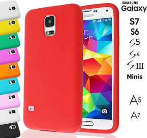 Plain-Soft-Silicone-Rubber-Gel-Skin-Case-Cover-GALAXY-S7-S6-S5-S4-S3-MINI-A5-A7