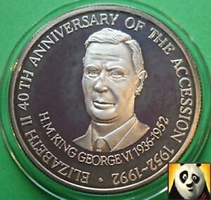 1992-TURKS-AND-CAICOS-20-Crowns-King-George-VI-Ascension-Silver-Proof-Coin