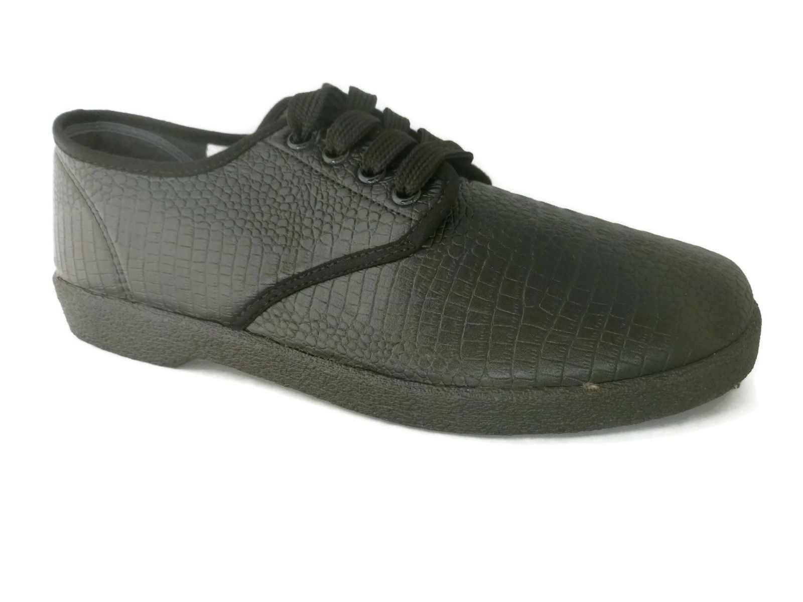 Men's Alligator Oxford Shoe by Zig Zag. Black. Sizes 6.5-13-  BRAND NEW STYLE