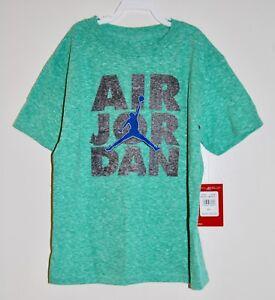4042de87c8a NWT Nike Jumpman 23 Little Boys Heather Green Air Jordan Logo SS T ...