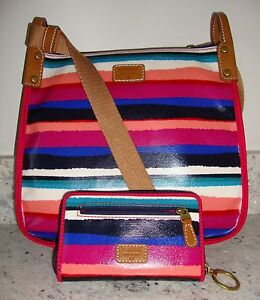 Image Is Loading Nwt Fossil Keyper Multi Colored Rainbow Striped Crossbody