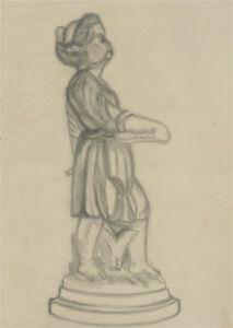 Simon Cesarani - Set of 3 Mid 20th Century Graphite Drawings, Sculpture