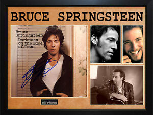 Bruce-Springsteen-Autographed-Album-Cover-Display-AFTAL-UACC-RD-COA-PSA