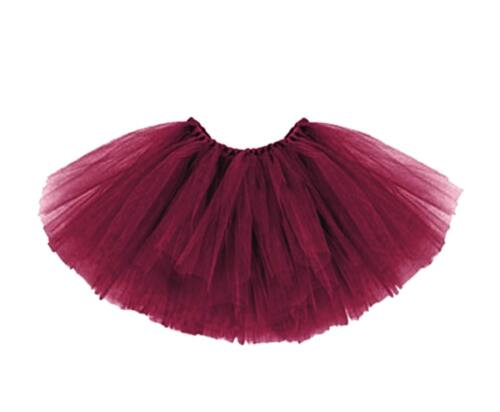 Kinder Tütü Tutu Rock Ballettrock Ballet Petticoat Balletkleid 3lagig Weinrot