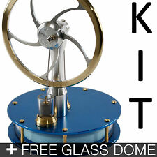 KONTAX Blue Ultra Low Temperature Stirling Engine KIT + FREE Glass Dome