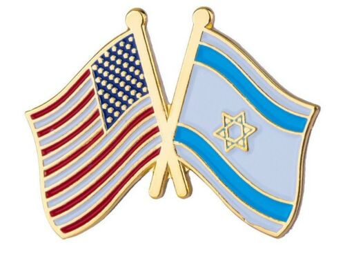 UK SELLER USA ISRAEL Friendship Lapel Pin HIGH QUALITY