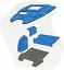 Ford-Worldwide-Q-Cab-4-amp-6-Cyl-Flat-Deck-Trim-Kit-Blue-Sound-Proofing-Vinyl-Foam thumbnail 1