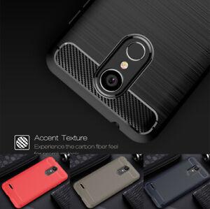 For-LG-K9-2018-K9-TV-2018-Carbon-Fiber-Brushed-TPU-Soft-Case-Shockprof-Cover