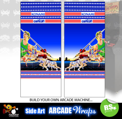 Track and Field Arcade Side Artwork Panel Stickers Graphics  / Laminated