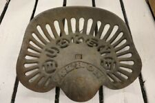 Antique Iron Tractor Seat Chair Buckeye Tractor Farm Not Painted Orig