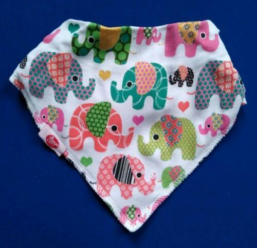 Zippy Baby Girls Bandana Dribble Bib Ethnic Boho Teething Cotton Quality NEW