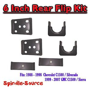 1988-1998-Chevrolet-Chevy-GMC-C1500-6-Inch-Flip-Kit-6-034-Rear-Drop-88-98-1500