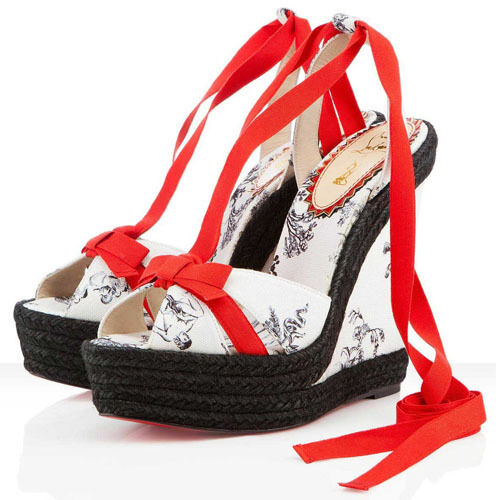CHRISTIAN CHRISTIAN CHRISTIAN LOUBOUTIN ISABELLE 20TH ANNIVERSARY EU41 UK8 US11 WEDGE SHOES HEELS 28248d
